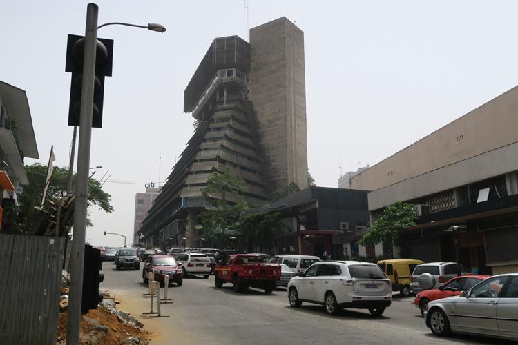 """L'immeuble """"la Pyramide"""" construite à l'époque coloniale"""