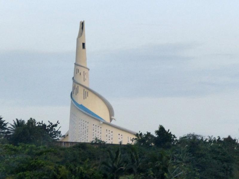 Le sanctuaire Marial de la communauté catholique édifié dans la commune de Attécoubé