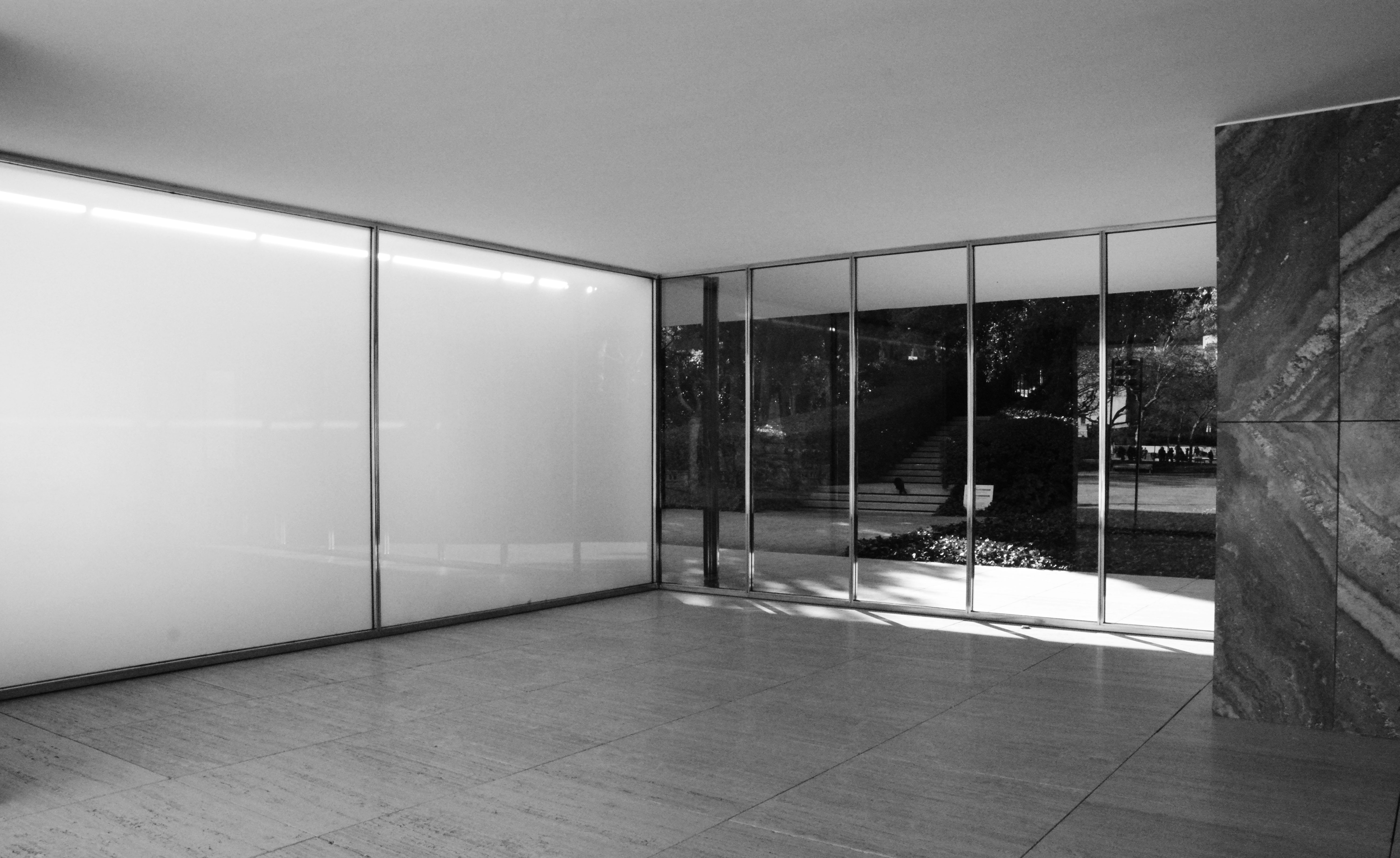 Le pavillon allemand de barcelone ludwig mies van der rohe for Barcelone architecture contemporaine